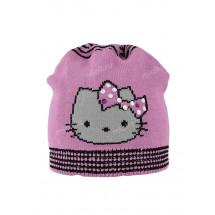 "Шапка демисезонная темно-розового цвета ""Hello Kitty"""