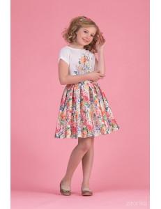 """Комплект для девочек с пестрыми цветами (блуза и юбка) """"New Look"""""""