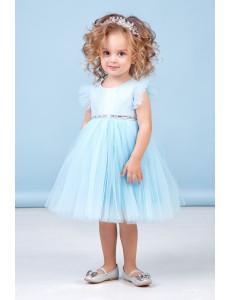 """Платье нарядное для малышек нежно-голубого цвета """"Берта"""""""